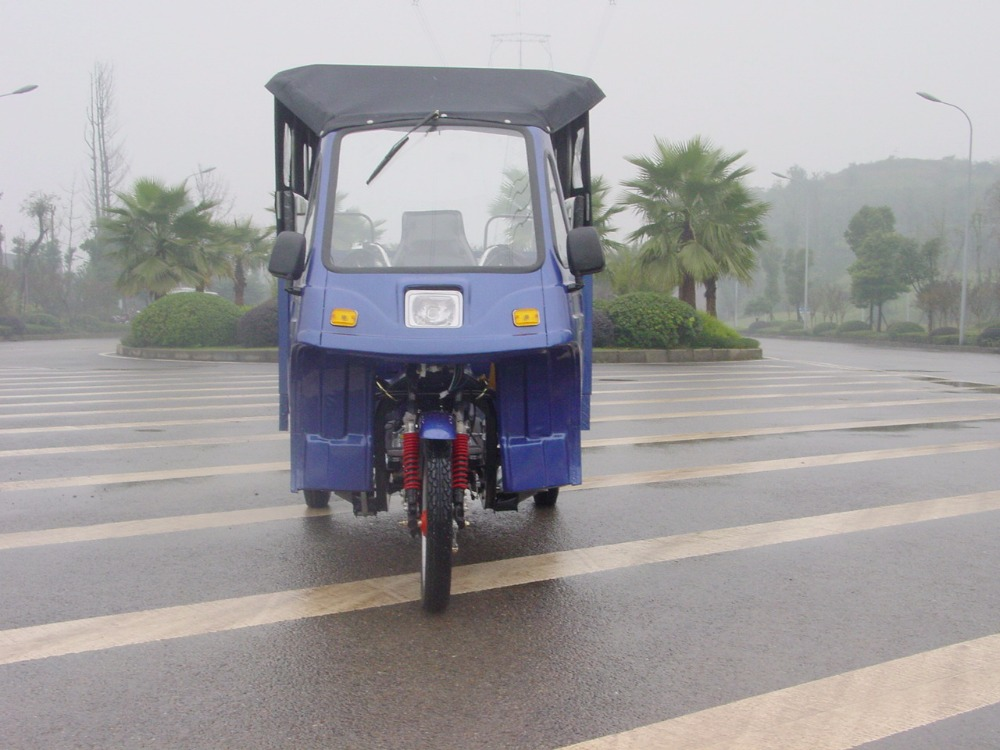 full closed cabin 3 wheeler bike with rain cover passenger tricycle