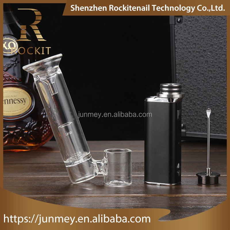 Most popular in USA vaporizer market Rockit portable wax herb vaporizer with glasspipes