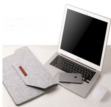 wholesale 15.6 inches custom felt laptop bags sleeves cases for men