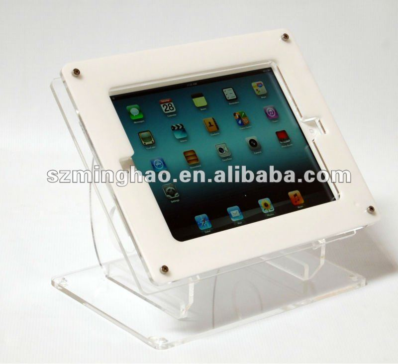 for ipad acrylic display stand/ transparent acrylic holder