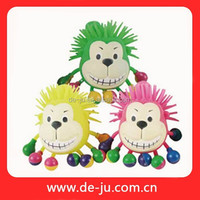 TPR Puffer Ball Animal Head Rubber Monkey Toy