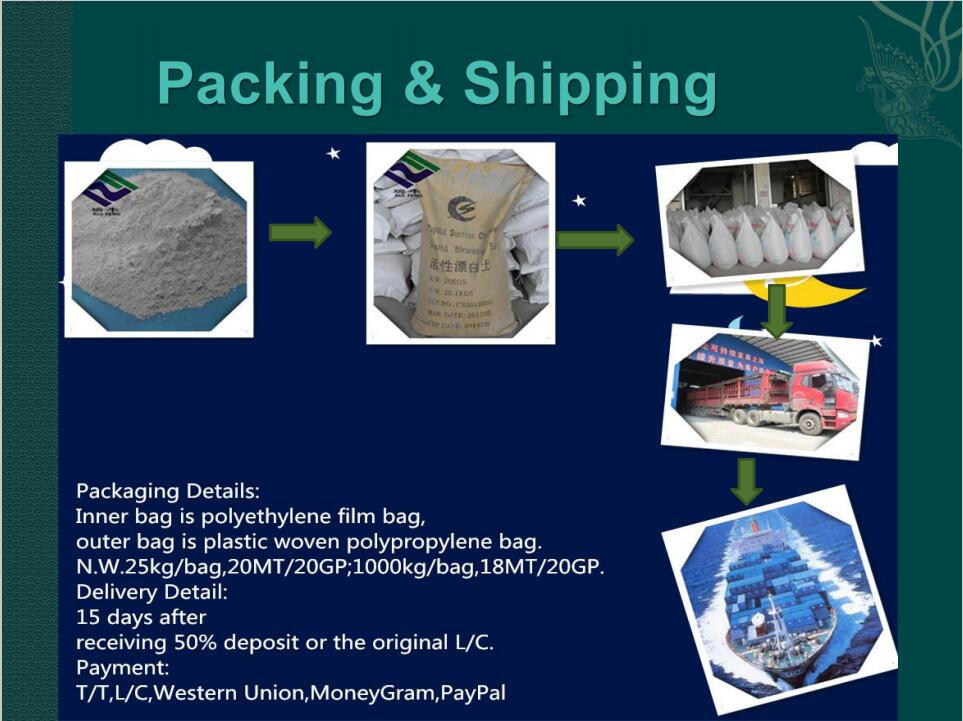 Chinese suppliers wholesale price High quality bentonite clay /activated bleaching earth Chemicals