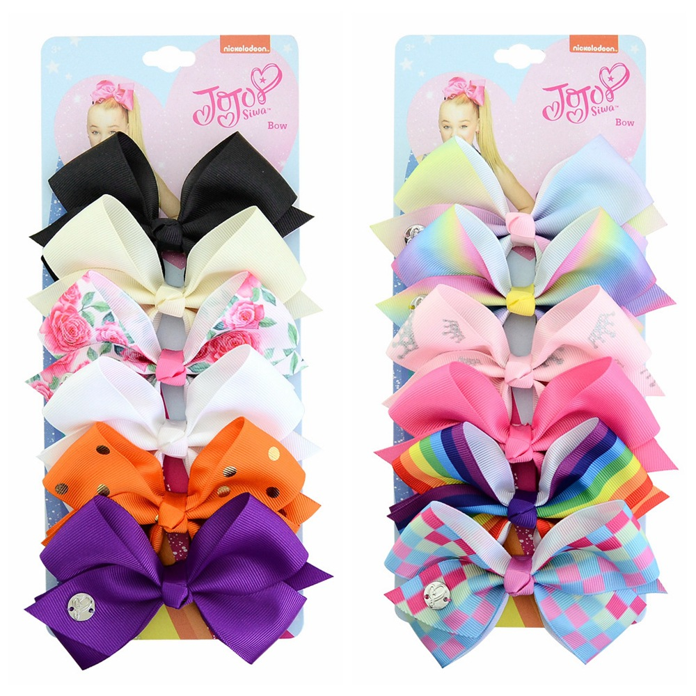 Cross-border children's <strong>hair</strong> <strong>accessories</strong> set 6 color bow one card children hairpin baby headwear
