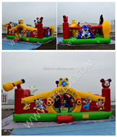 2015 PVC commercial inflatable fun city, inflatable fun island for kids B5032