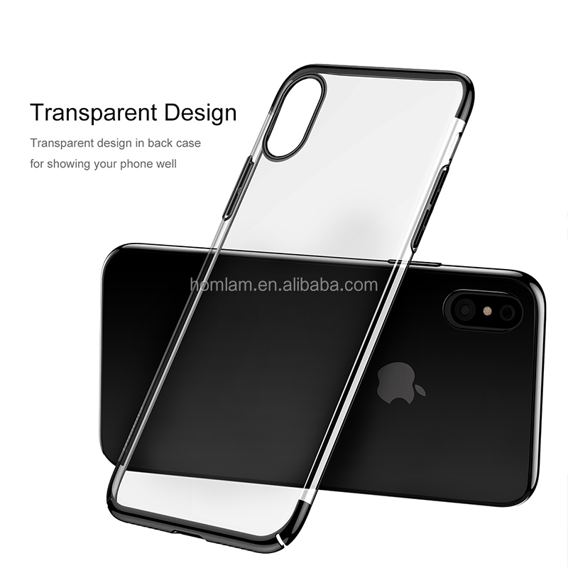 2017NEWS Baseus Ultra Thin Hard PC Case for iPhone X Luxury Plating Back Protective Cover for iPhone8 Protective Shell Coque
