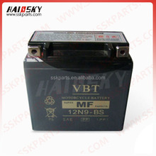 HAISSKY motorcycle parts 12v 3ah motorcycle battery for whole sale