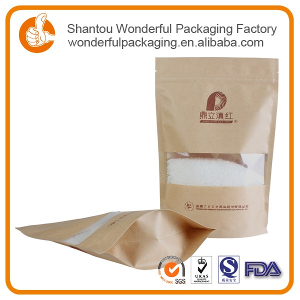 Wholesale plastic kraft paper packaging bag 1kg bag cashew nuts for sale