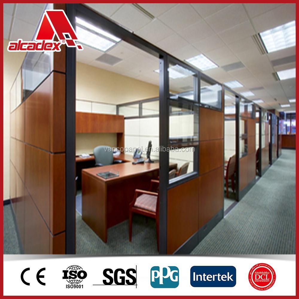 Office Partition Aluminium Composite Panel Interior Wood Wall