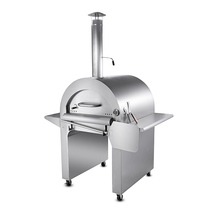 stainless steel wood fired stone pizza oven