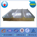 insulated fireproof roof rock wool sandwich panels for garage,storage,plants