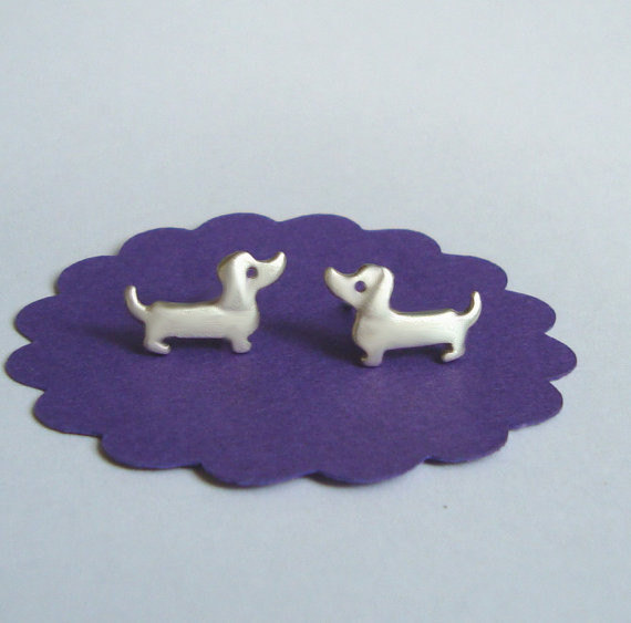 High quality Dachshund Stud Earrings wiener dog cute dog earrings