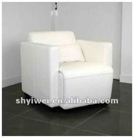 White single sofa Office or living room leather sofa Recling backrest sofa