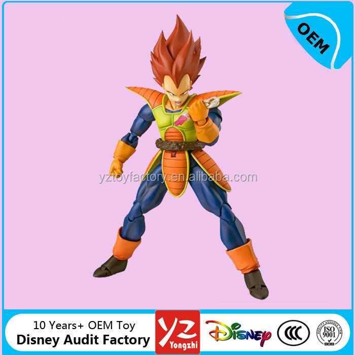 OEM Anime Dragon Ball Z action figures toys, custom super Saiyan Vegeta pvc figurines from Disny Audit Factory