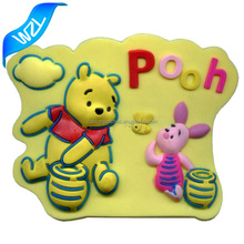 Custom shaped China manufacturer machine made cartoon Soft PVC rubber label patch