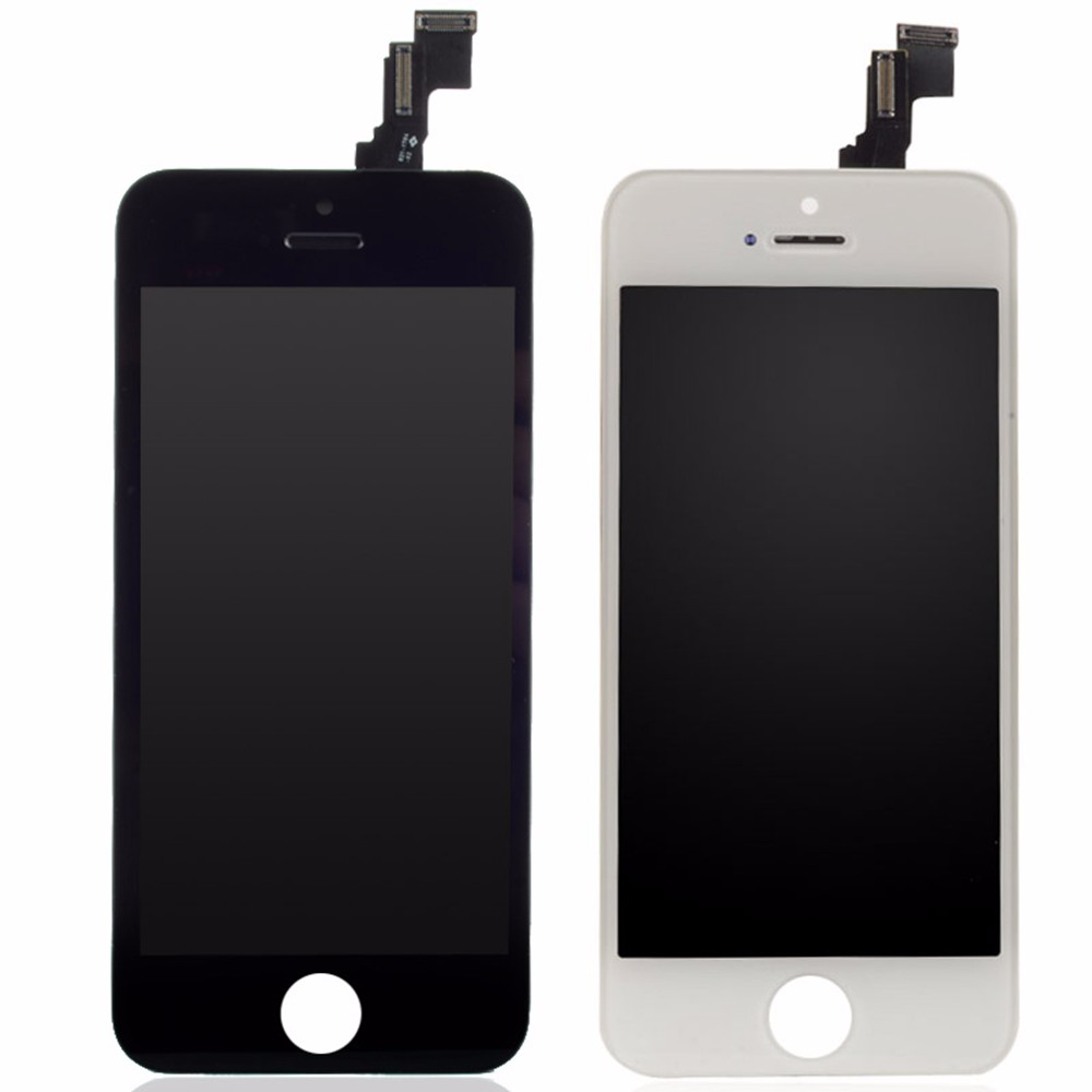 Black and White For Pantalla iPhone 5c LCD None Spot Display with Top A+++ Touch Screen Digitizer Assembly Replacement