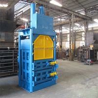 Vertical used Clothes Compress Baler T-shirt press machine China factory