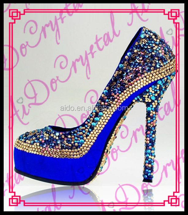 Aidocrystal Sexy high heels crystal custom made evening party shoes for women