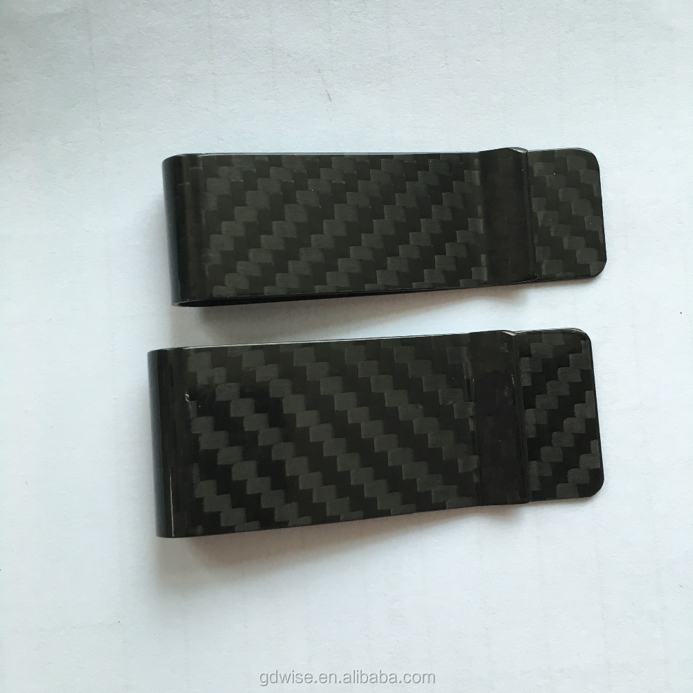 2016 hot sale Cool Quality 100% Real Carbon Fiber Money Clip and card Holder