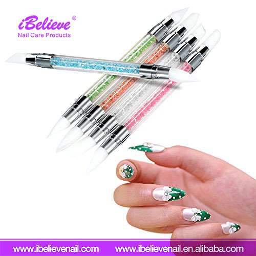 Cheap Price Carving Two Way Silicone Head Nail Art Pen for Nail DIY Design