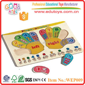 2017 GOODKIDS Hot Sale Plywood Hand Design Baby 2d Puzzle