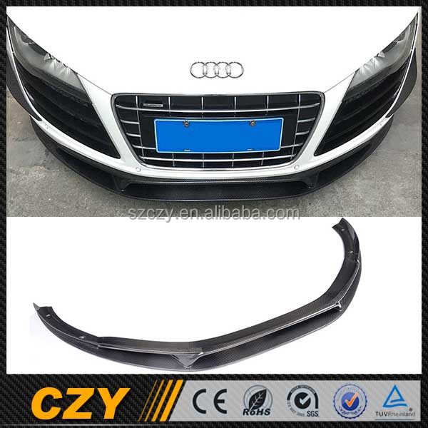 Aftermarket Carbon Fiber R8 Front Lip Splitter for Audi R8 GT V8 V10 08-15