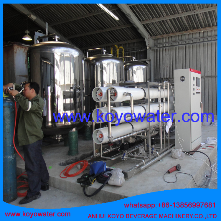 Distributors imported reverse osmosis system water tank 8000LPH mineral water plant price