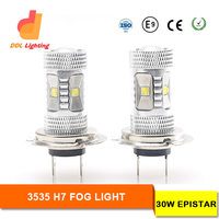 24V 12V Led Round Fog Lamp For Trailer Or Truck With E9,100% Waterproof h7 fog light car lamp bulbs