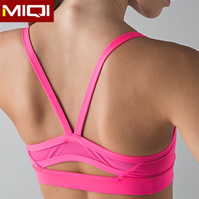 Sexy mesh back performance quick dry sports bra wholesale fitness clothing