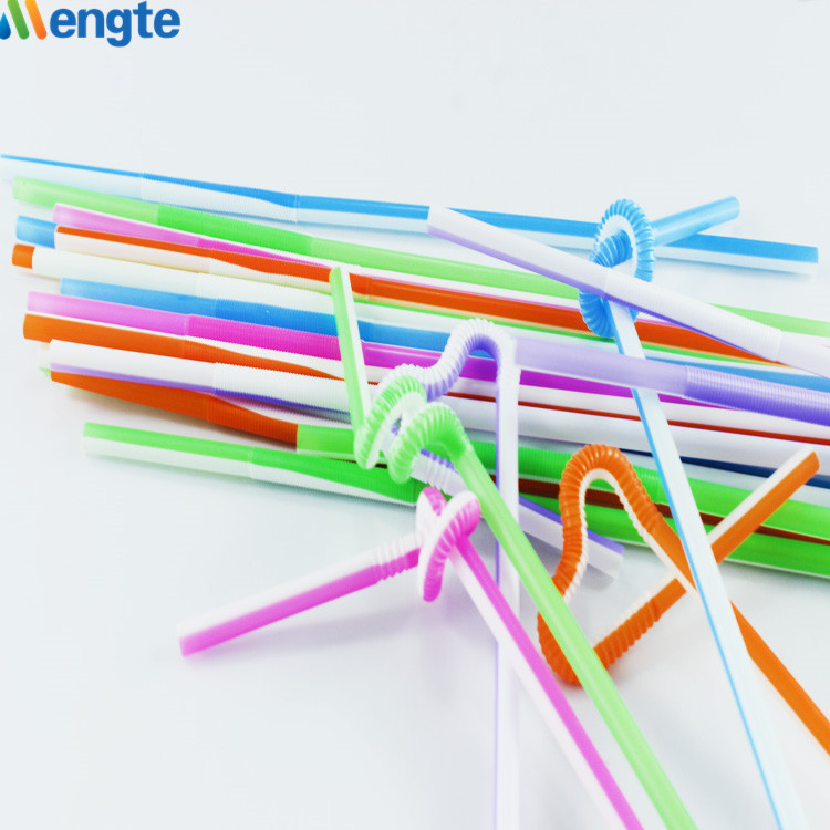 Flavored flexible drinking straw artistic straw
