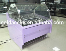1.5m display freezer ice cream case gelato refrigerator showcase for coffee shop/cake shop