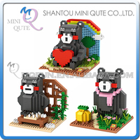 Mini Qute LOZ kawaii japanese Kumamon bear cartoon damond block plastic cube building blocks bricks educational toy