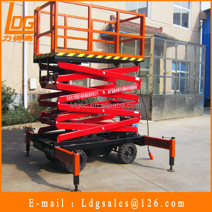 China high quality 6m hydraulic scissor elevator with SJY1-6
