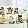 2015 so cute lovely cat people different postures cute animal concise style cushion covers/pillow case/car seat covers