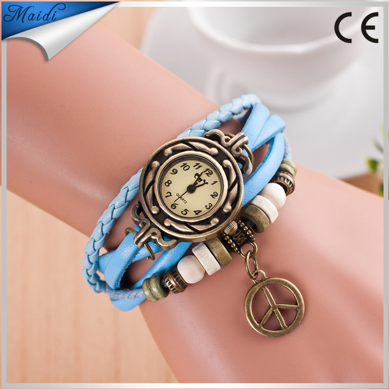 Reloj New Leather Weave Around Retro Bracelet Watch Women Analog Quartz Wristwatch Women's Relogio Feminino Promotion VW024