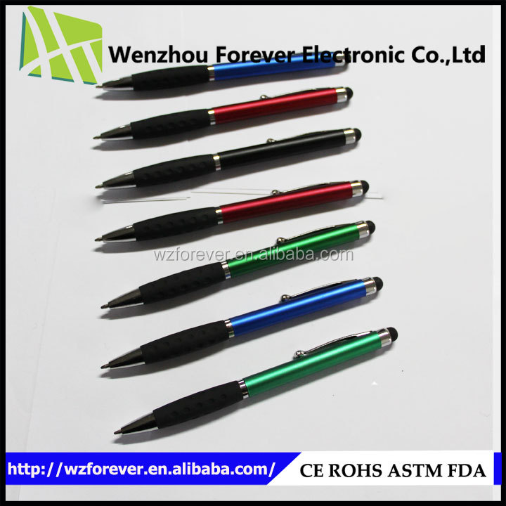 2016 Hot Selling 2in1 Plastic High Sensitive Touchpen