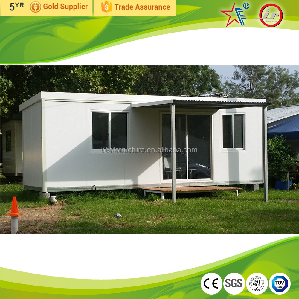 log cabin kits/one bedroom prefab house/granny flat
