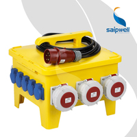 Saip Saipwell Socket Power Box IP65 Waterproof German High Quality Industrial OEM ODM China Portable Power Distribution Box