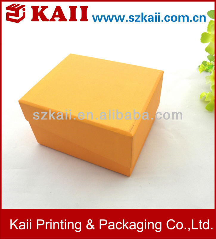 [factory price+high quality]custom yellow paper gift box cardboard
