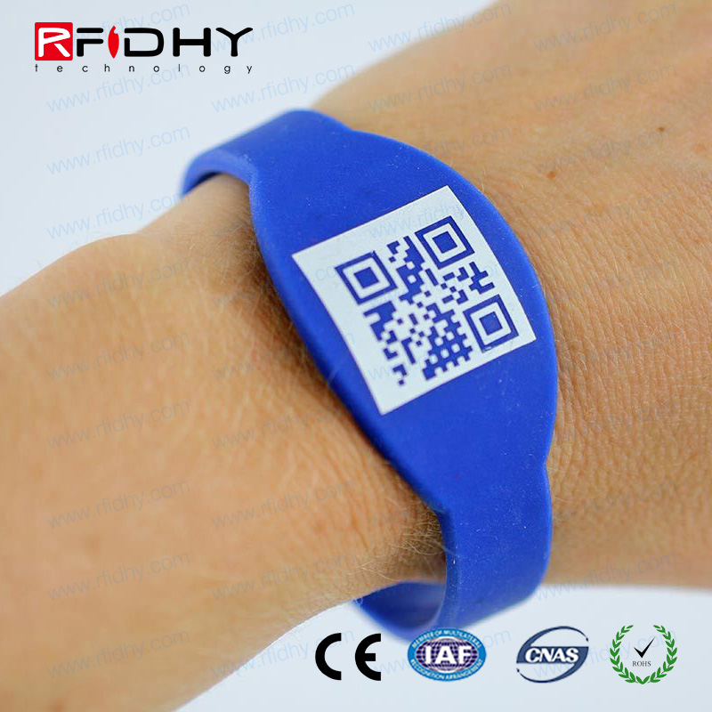 Styllish Linear 2D bar coding Mifare 1k RFID Wristband for door Lock