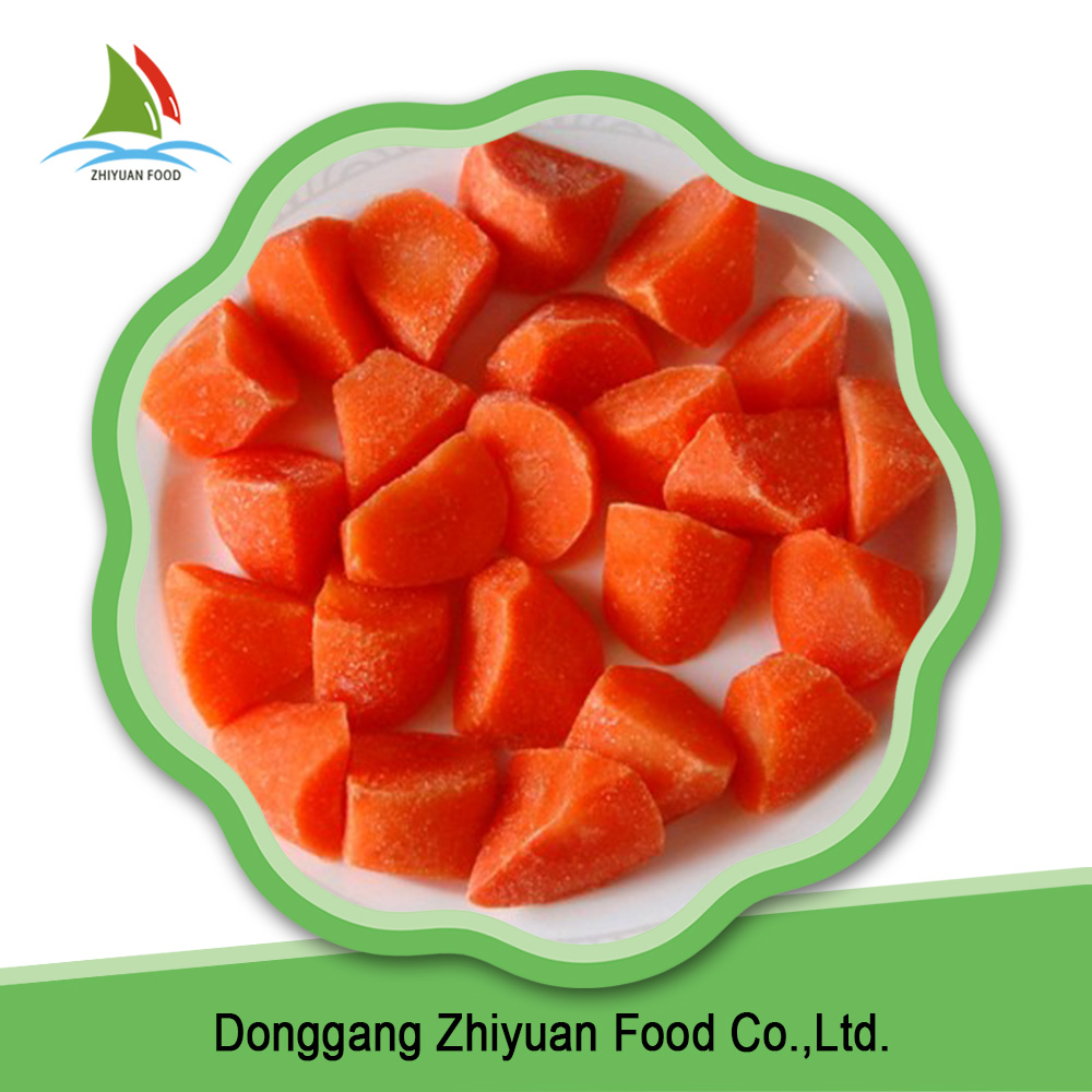 China fresh fruit and vegetable yellow crisp green food frozen carrot
