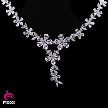 2017 Fashion Design Gold Plated Woman Wedding Necklace