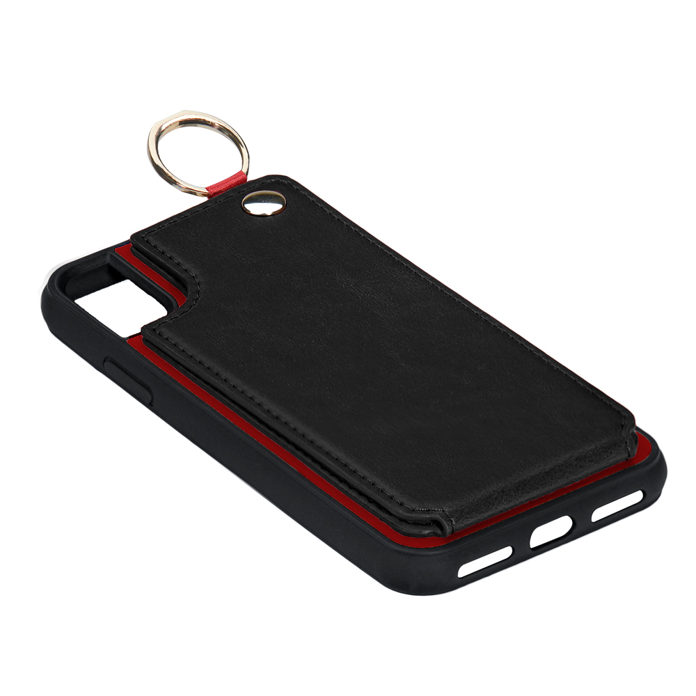 simply backcase with PU leather card slots for iPhone 8