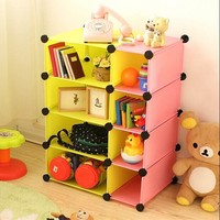 Double colors Stack & store cube Cabinet without Door and Shelf (FH-AL4215)
