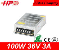 Factory price CE RoHS constant voltage single output ac dc regulated LED switching mode 3a 100w led driver 36v
