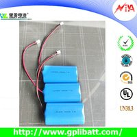 2200mah 3.7V 18650 pack li-ion battery manufacturer
