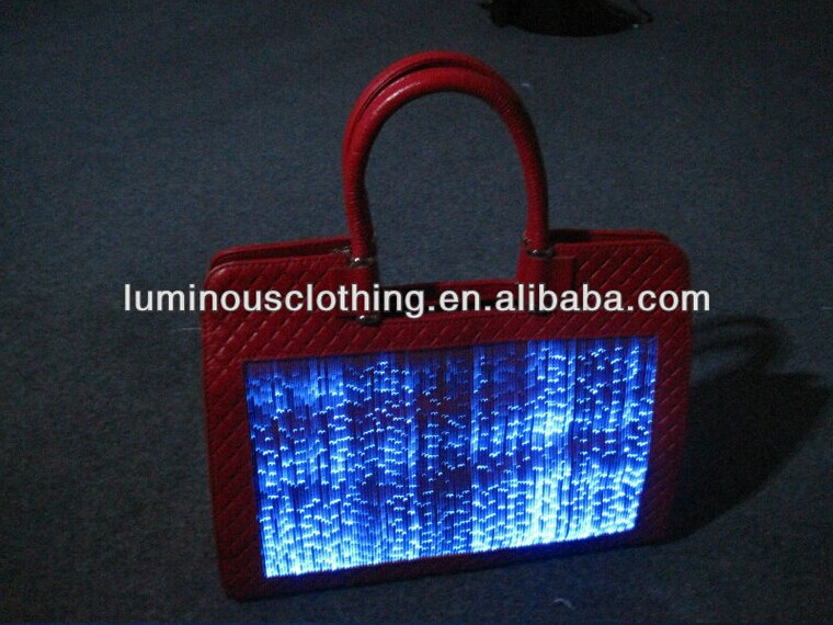 2014 new design led luminous fashion leather discount designer handbags online shopping