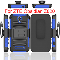2017 Manfacture PC with Silicone hybrid combo hard cover Armor case for zte obsidian z820