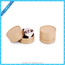 Small kraft paper display round watch box