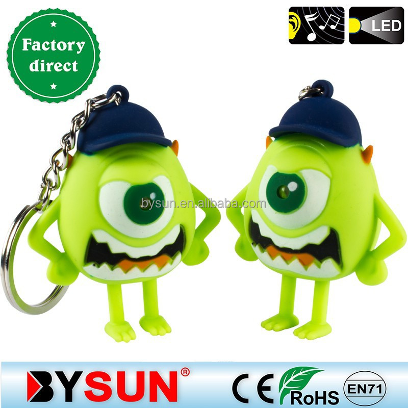 BS-332 promotional item led keyring series with baseball cap