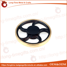 Gilt-edged Wheel Shaped Finger Fidget Spinner